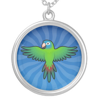 Cartoon Conure / Lorikeet / Parrot Silver Plated Necklace