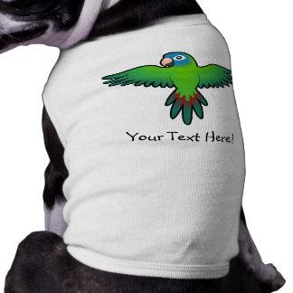 Cartoon Conure / Lorikeet / Parrot Sleeveless Dog Shirt