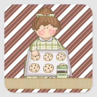 Cartoon Cookie Sticker add words