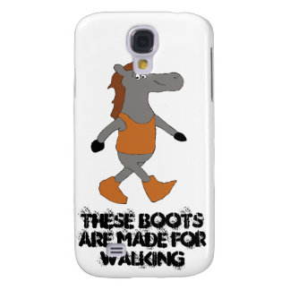 Cartoon Country Horse In Boots Galaxy S4 Case