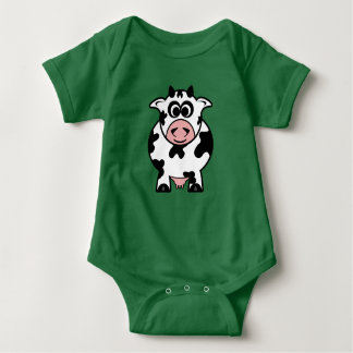 Cartoon Cow Baby Bodysuit