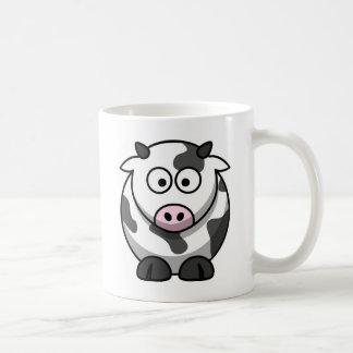 Cartoon Cow Basic White Mug