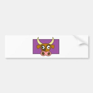 Cartoon cow bumper sticker