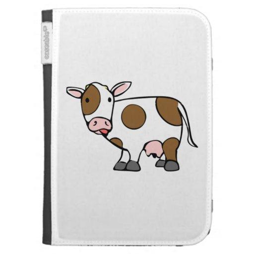 Cartoon Cow Kindle Keyboard Case