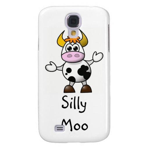 Cartoon Cow Samsung Galaxy S4 Cover