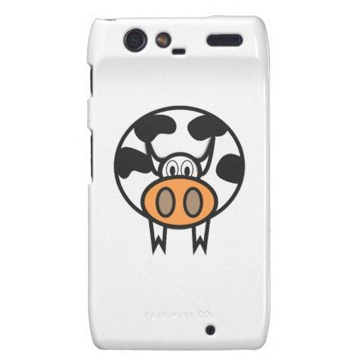 Cartoon Cow Motorola Droid RAZR Cases