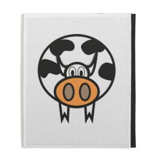 Cartoon Cow iPad Folio Case
