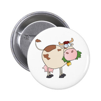 Cartoon Cow Character 6 Cm Round Badge