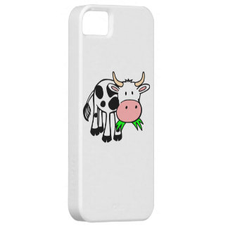 Cartoon Cow Chewing Grass Cover For iPhone 5/5S
