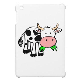 Cartoon Cow Chewing Grass iPad Mini Covers