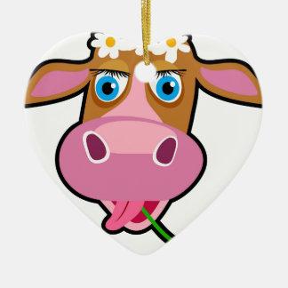 cartoon cow christmas ornament