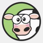 Cartoon Cow Customisable Sticker
