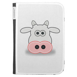 Cartoon Cow Face and Head Kindle Keyboard Cases