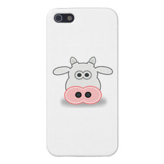 Cartoon Cow Face and Head iPhone 5 Cases