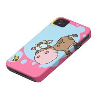 Cartoon Cow iPhone 4 Case