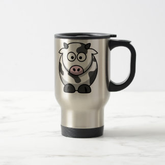 Cartoon Cow 15 Oz Stainless Steel Travel Mug