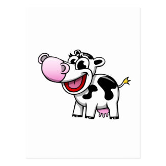Cartoon Cow Postcard
