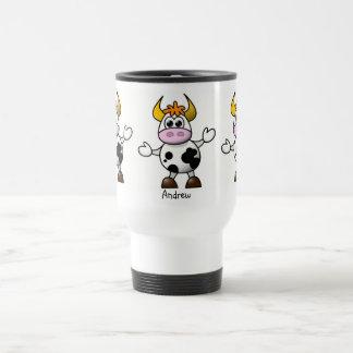 Cartoon Cow Stainless Steel Travel Mug
