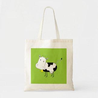 Cartoon Cow Tote Tote Bags