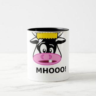Cartoon Cow Two-Tone Mug