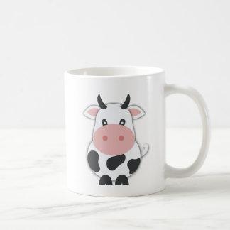 Cartoon Cow With Horns Coffee Mug
