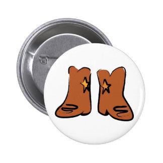 Cartoon Cowboy Boots 6 Cm Round Badge