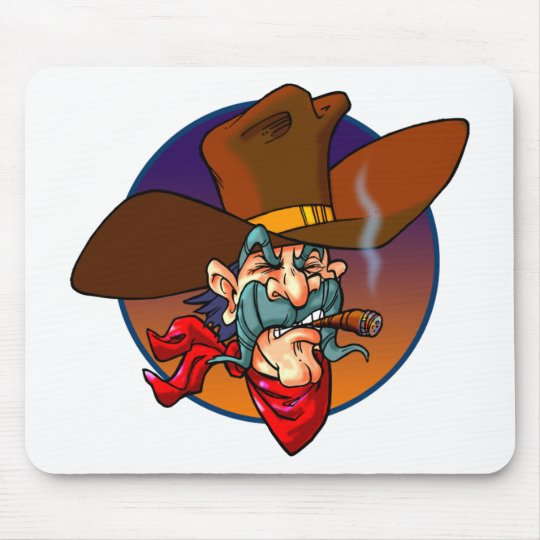 Cartoon Cowboy Mouse Mat
