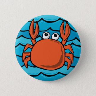 Cartoon Crab 6 Cm Round Badge