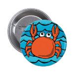 Cartoon Crab Button