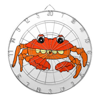 Cartoon crab dartboard