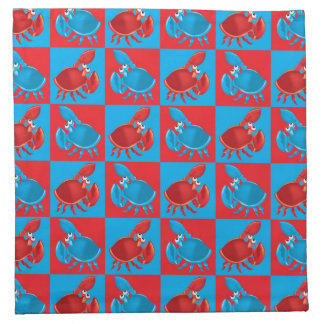 Cartoon crab mosaic napkin