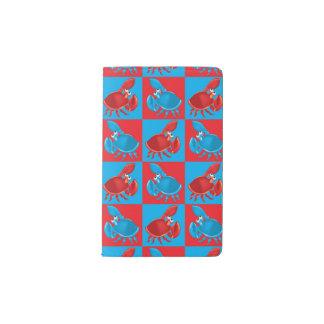 Cartoon crab mosaic pocket moleskine notebook