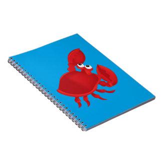 Cartoon crab notebook
