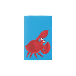 Cartoon crab pocket moleskine notebook
