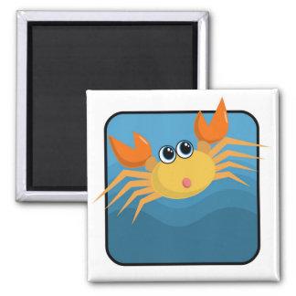 Cartoon Crab Square Magnet