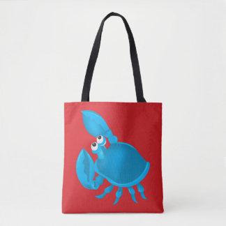 Cartoon crab tote bag