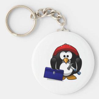 Cartoon Crafty Penguin Keychains