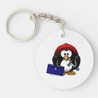 Cartoon Crafty Penguin Key Chain