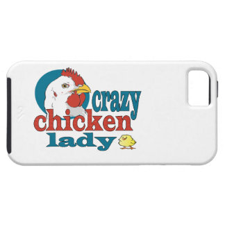 Cartoon Crazy Chicken Lady Case For The iPhone 5