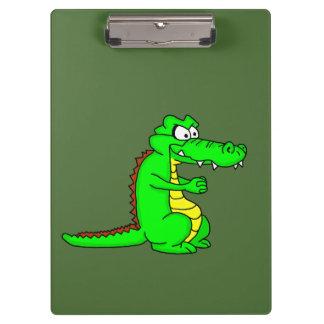 Cartoon croc clipboard