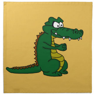 Cartoon croc napkin