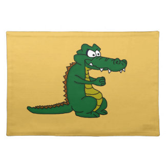 Cartoon croc placemat