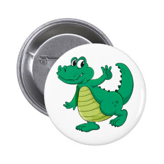 Cartoon crocodile 6 cm round badge