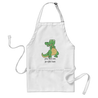 Cartoon Crocodile Apron