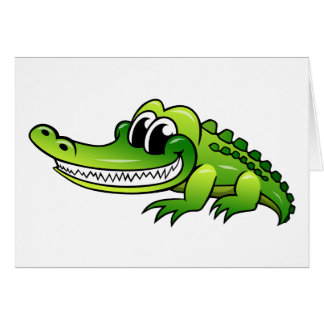 Cartoon Crocodile Card