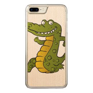 Cartoon crocodile. carved iPhone 8 plus/7 plus case