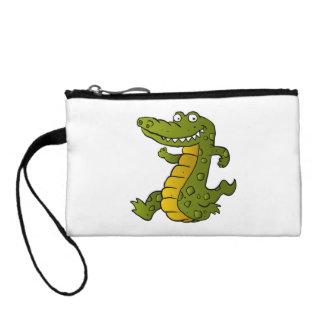 Cartoon crocodile. change purse