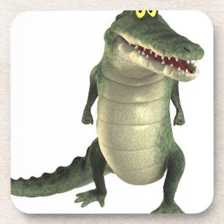 Cartoon Crocodile Drink Coasters