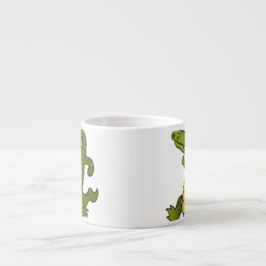 Cartoon crocodile. espresso cup