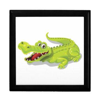 Cartoon Crocodile Large Square Gift Box